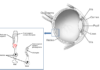 Diagram showing structure of the eye and location of photoreceptor cells